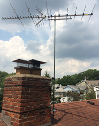 antennacraft antenna mounted to chimney