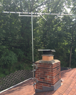 Large antenna chimney mount